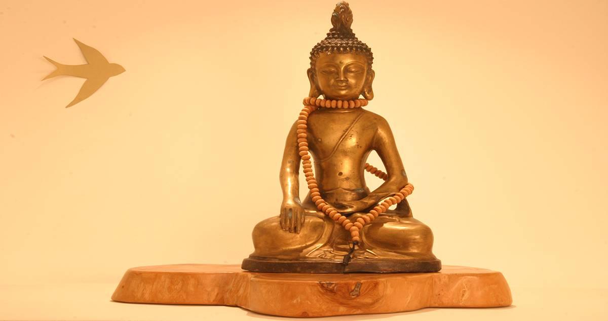 Baraka escultura meditación
