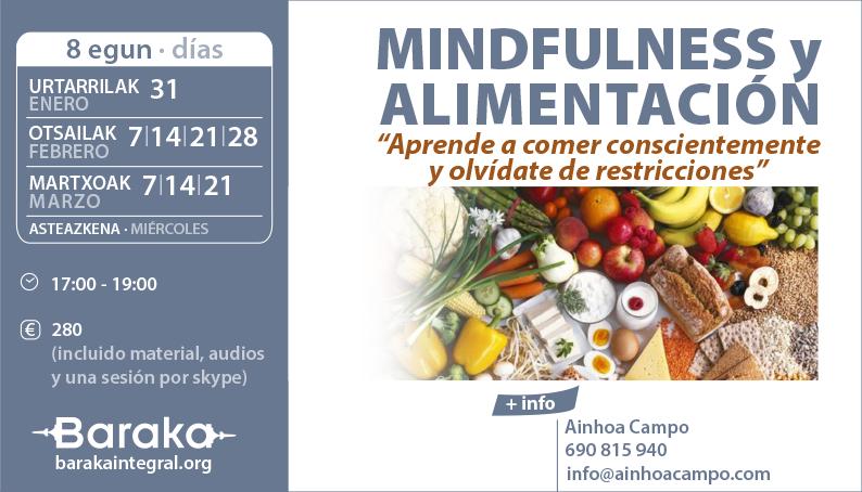 Baraka Mindfulness y Alimentación