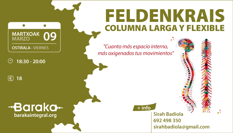 FELDENKRAIS COLUMNA LARGA Y FLEXIBLE