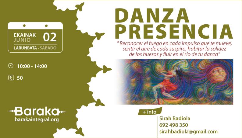 Baraka taller de Danza Presencia a través de Feldenkrais