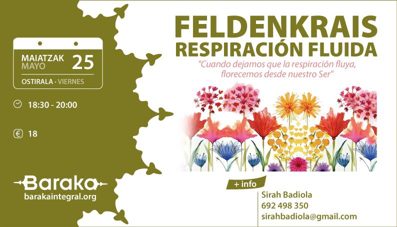 FELDENKRAIS RESPIRACIÓN FLUIDA