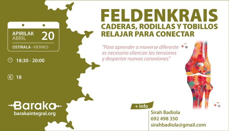 FELDENKRAIS: CADERAS, RODILLAS Y TOBILLOS