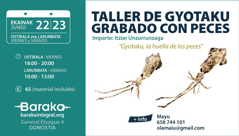 TALLER DE GYOTAKU – GRABADO CON PECES