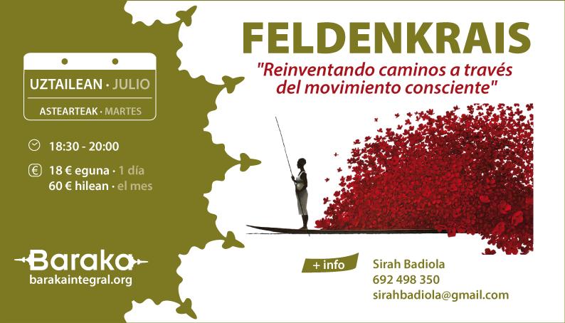 Feldenkrais en julio y septiembre