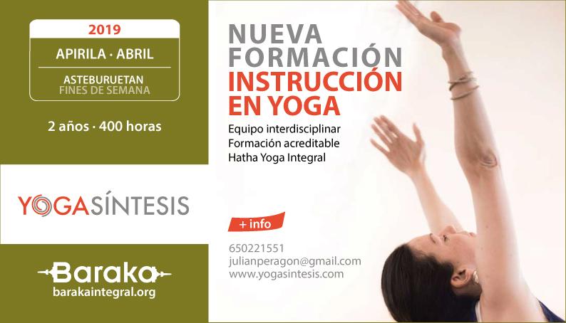 Baraka formación instructor yoga