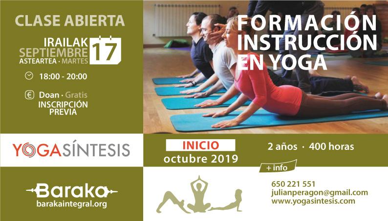 Baraka clase abierta formación yoga