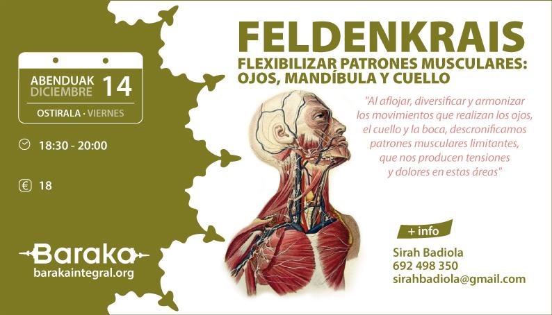 FELDENKRAIS Flexibilizar patrones musculares: Ojos, mandíbula y cuello