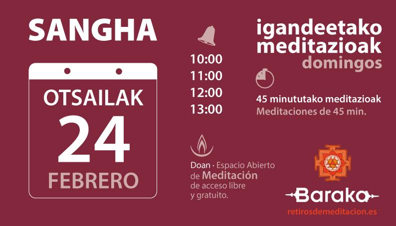 Sangha, meditación abierta