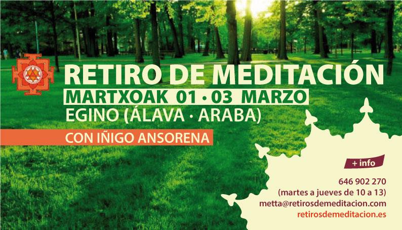 Retiro de Meditación en Egino con Baraka en marzo de fin de semana
