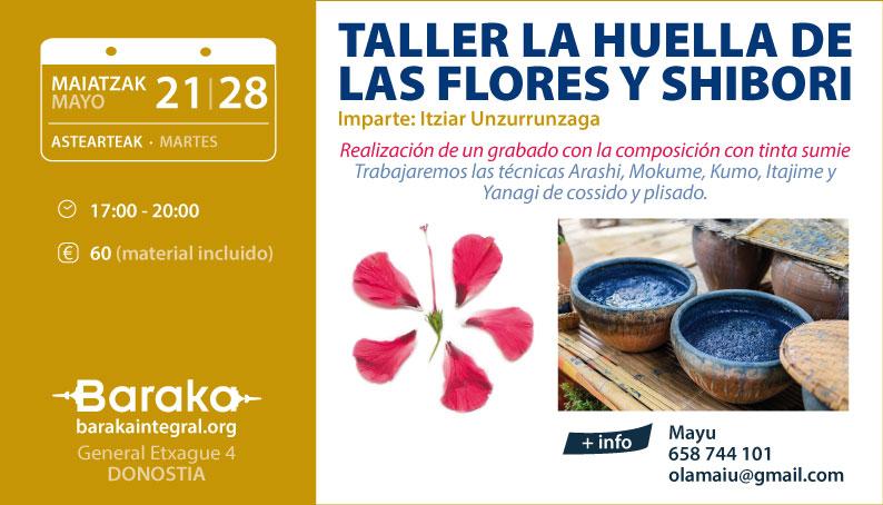 Baraka taller la huella de las flores y shibori