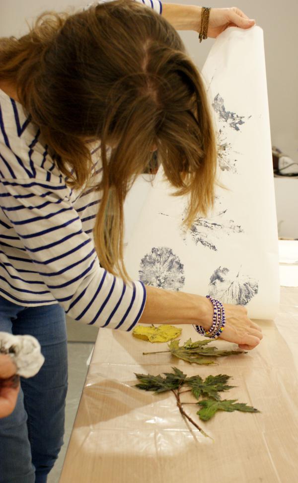 impresión de flores, hojas