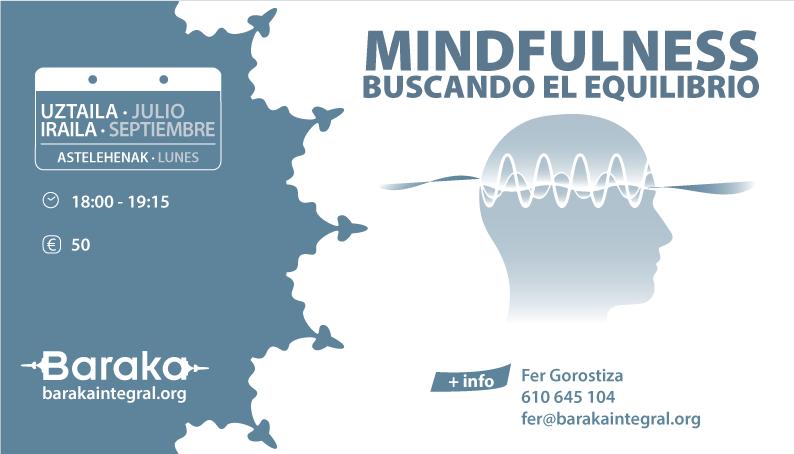 MINDFULNESS & YOGA: EN BUSCA DEL EQUILIBRIO JULIO · SEPT