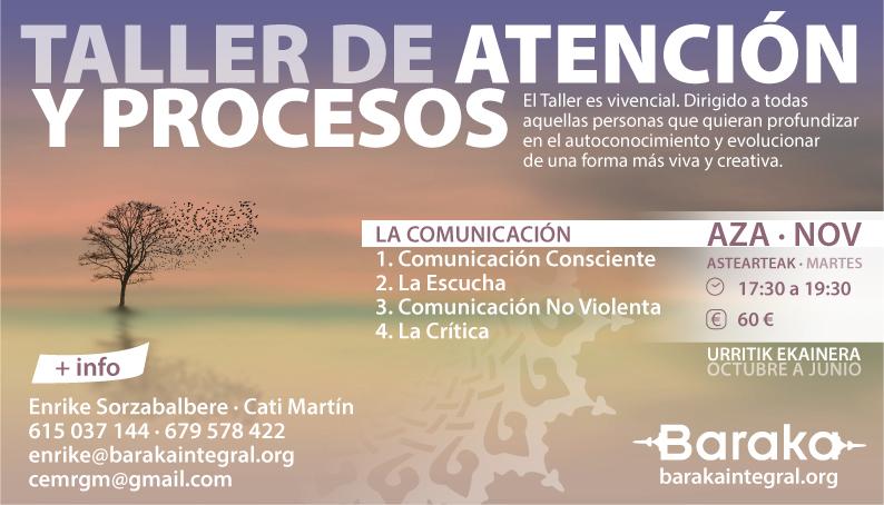 TALLER DE ATENCIÓN Y PROCESOS