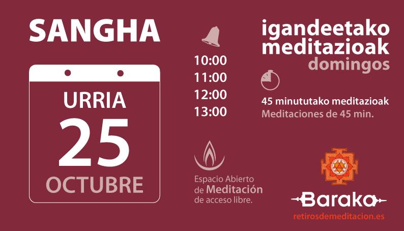 Baraka Sangha dominical octubre