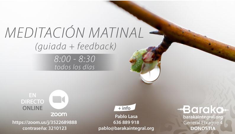 MEDITACIÓN MATINAL