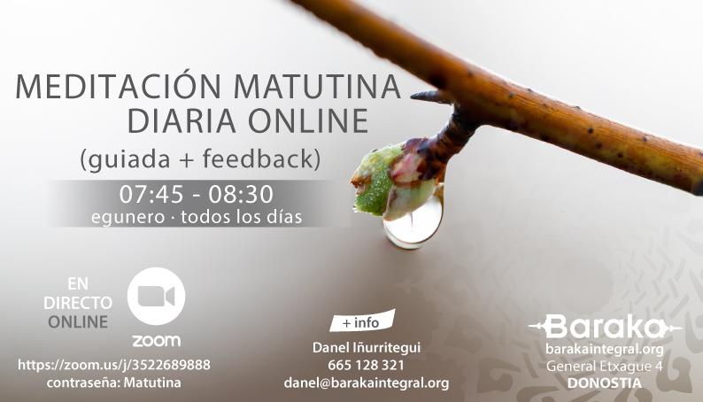 MEDITACIÓN DIARIA MATUTINA ONLINE