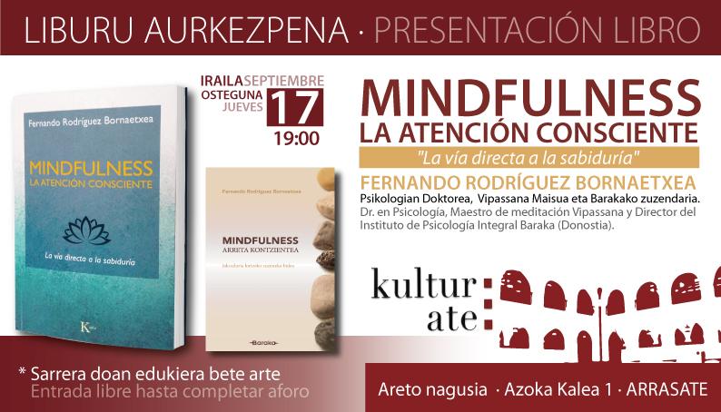 Baraka presentación libro Mindfulness ARRASATE
