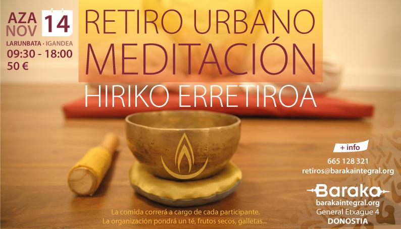 Baraka retiro urbano meditación