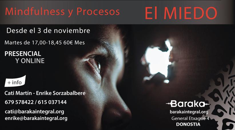 Mindfulness y procesos: EL MIEDO