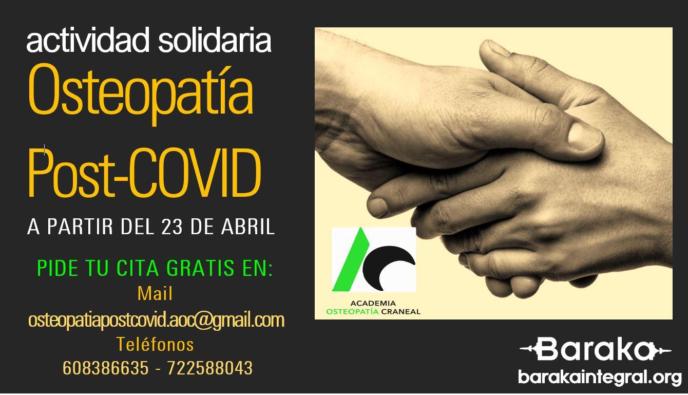 OSTEOPATÍA POST COVID – Actividad Solidaria