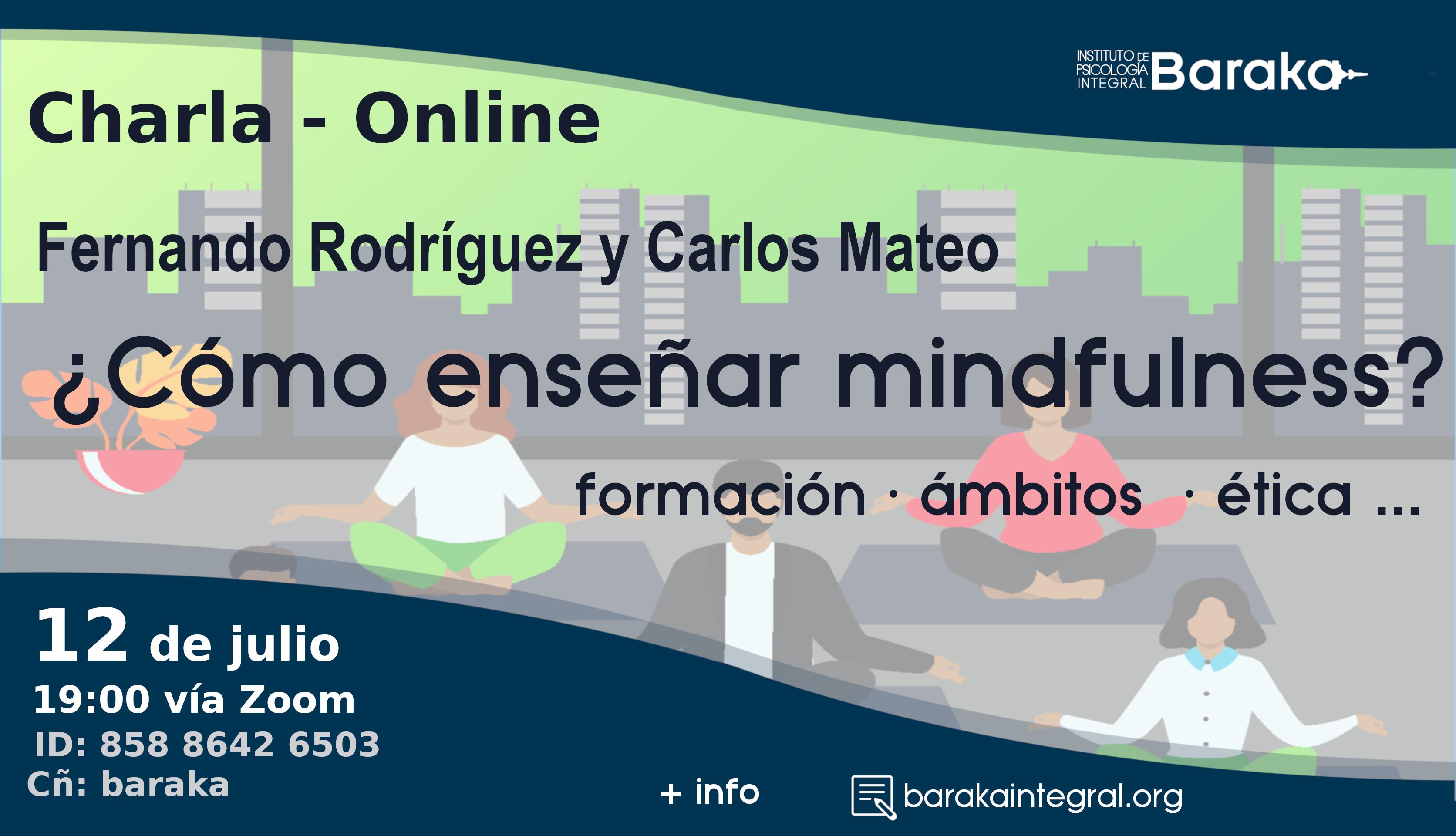 cartel charla mindfulness