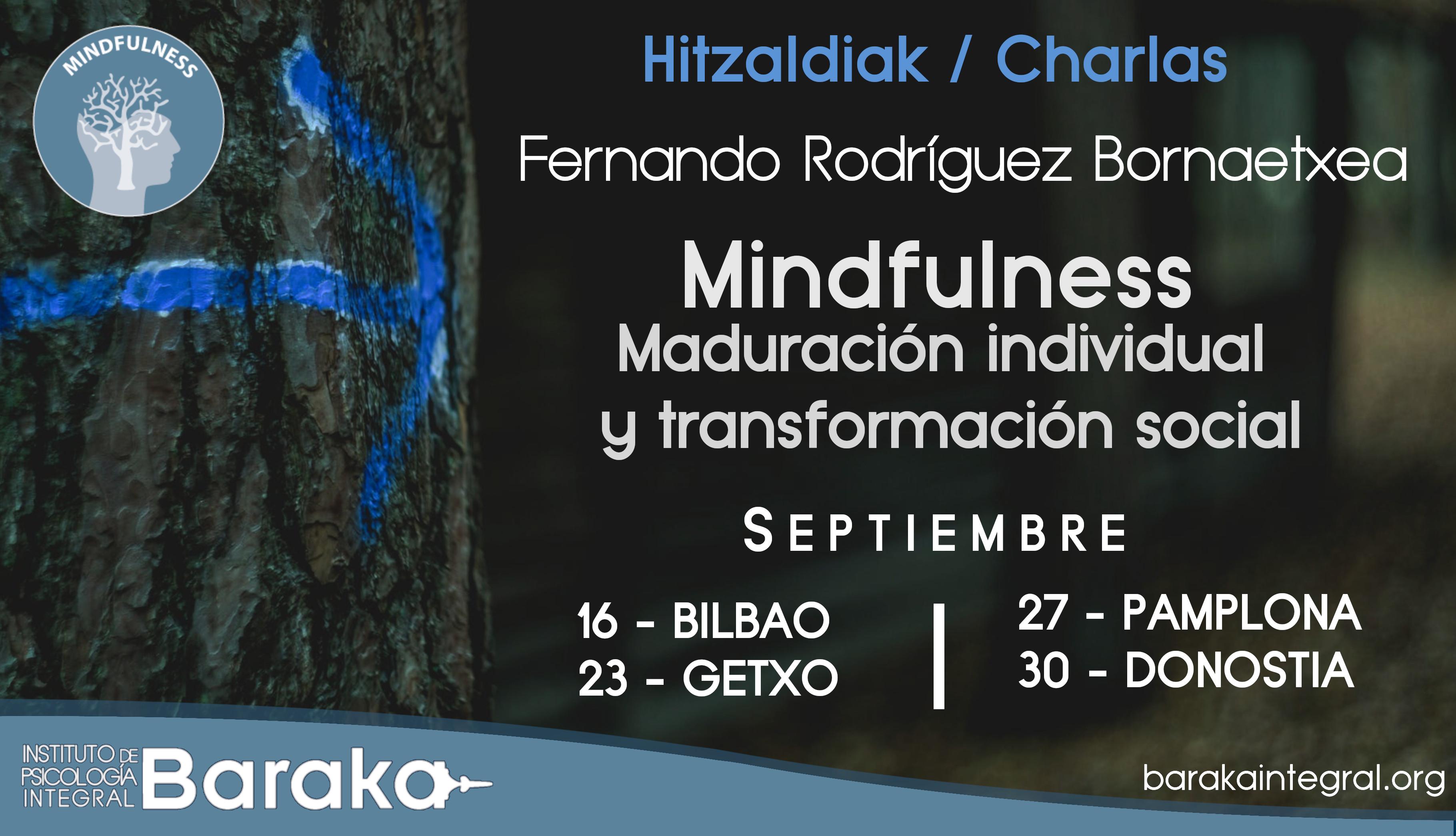 Charlas Mindfulness con Fernando Rodríguez en septiembre