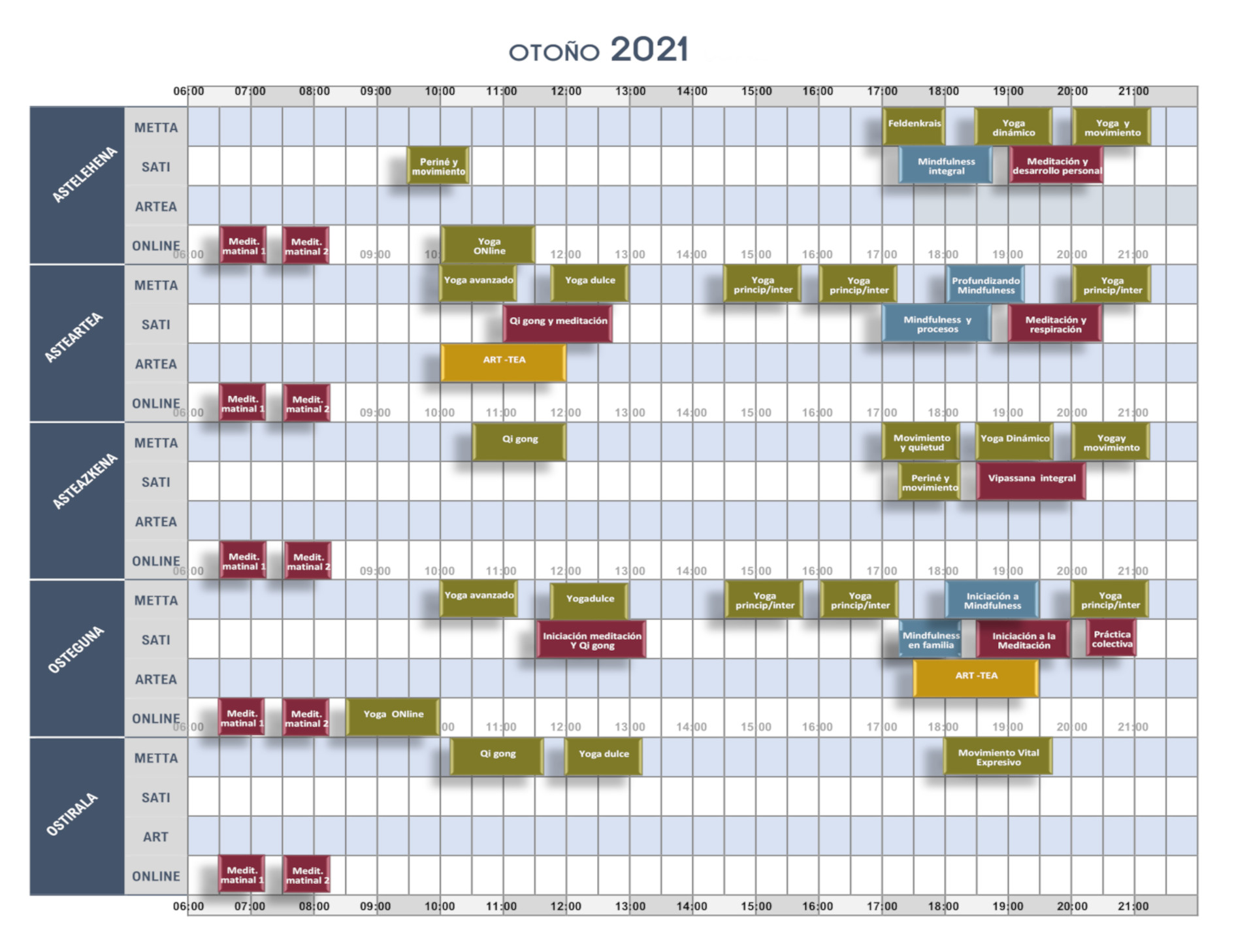 horario baraka 2021 otoño